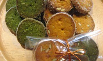 かぼちゃと抹茶のクッキー