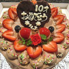 生チョコホールケーキ